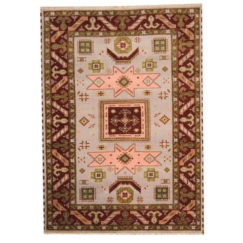 Handmade One-of-a-Kind Kazak Wool Rug (India) - 5'9 x 7'11