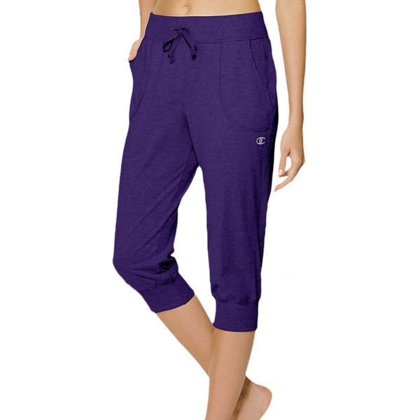 b8bcf768057c Shop Champion Authentic Women s Jersey Banded Knee Pants - Free ...