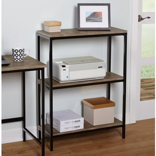 simple living piazza metal wood 3tier bookshelf