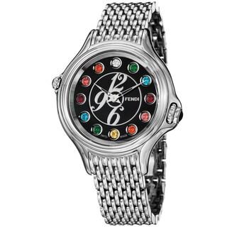 Fendi Women's F105031000T05 Crazy Carats Stainless Steel Diamond/ Topaz Swiss Quartz Watch