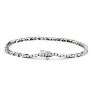 Suzy Levian 2ct TDW 14k White Gold Diamond Tennis Bracelet (G-H, SI1-SI2)