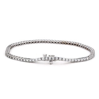Suzy Levian 2ct TDW 14k White Gold Diamond Tennis Bracelet