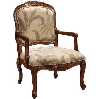 Christopher Knight Home Hand-carved Brown and Cream Chair