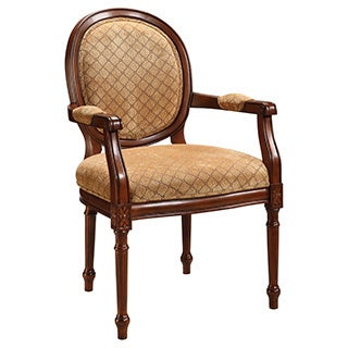 Christopher Knight Home Warm Brown and Tan Accent Chair