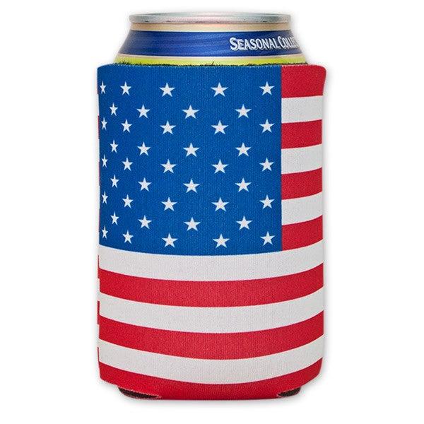 American Flag Soda Can Cooler Koozie