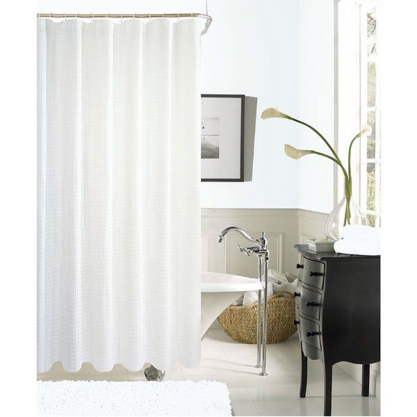 Shop Hotel Waffle Shower Curtain - Free Shipping On Orders Over $45 ...