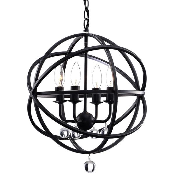 Carbon loft bidwell antique black metal sphere 4 light crystal carbon loft bidwell antique black metal sphere 4 light crystal chandelier aloadofball Images