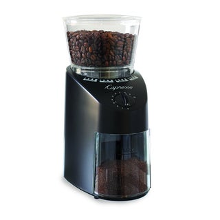 Capresso Jura Infinity 560 Conical Burr Coffee Grinder (Black) + Dusting Brush + 3-pack 35G Grindz Coffee Grinder Cleaner