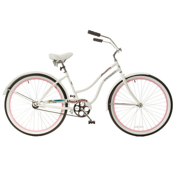 Titan Docksider Single Speed Womens Beach Cruiser Bicycle