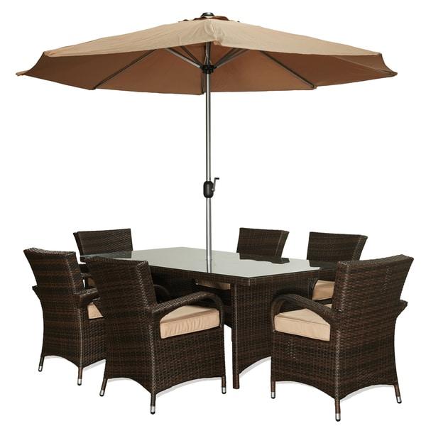 the-Hom Bora 8-piece Outdoor Wicker Dinning Set