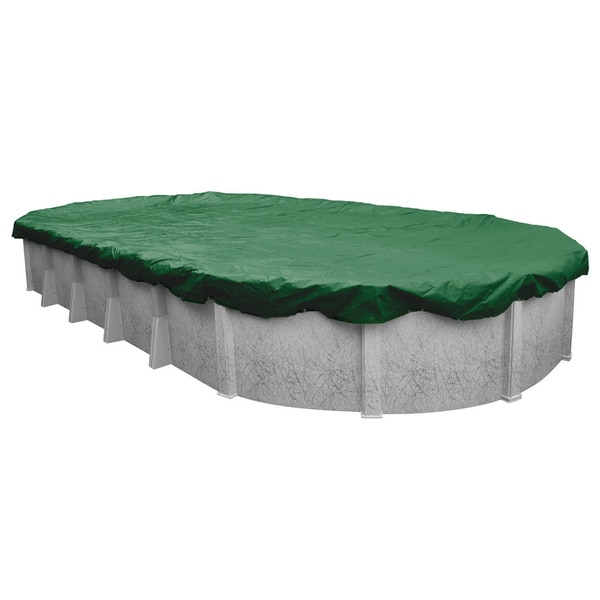 Robelle Next-generation Titan Ripshield Winter Cover for Oval Above-ground Pools