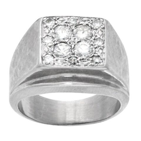 14k White Gold .75ct TDW Pave Diamonds Top Estate Ring (G-H, VS1-VS2)