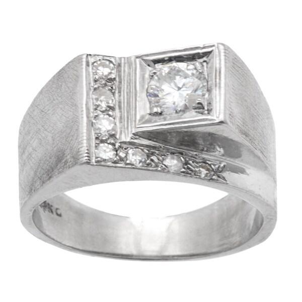 14k White Gold .5ct TDW Estate Ring (G-H, SI3)
