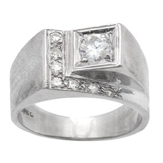 14k White Gold .5ct TDW Estate Ring (G-H, SI3)