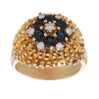14k Yellow Gold .25ct TDW Dotted Dome Estate Ring (H-I, SI3)