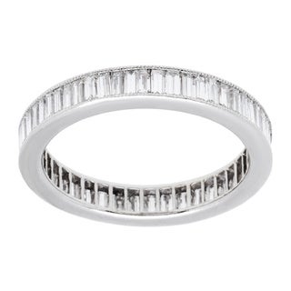 Platinum 1 1/2ct TDW Estate Eternity Band Ring (H-I, VS1-VS2) (Size 5)