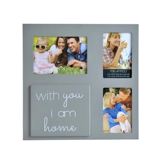Melannco Gray 'With You I Am Home' Collage Picture Frame
