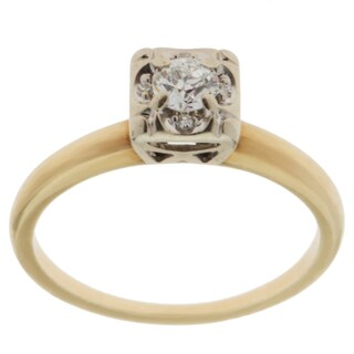 14K Yellow Gold 1/4ct TDW Antique Engagement Ring (G-H, VS1-VS2) (Size 5.75)