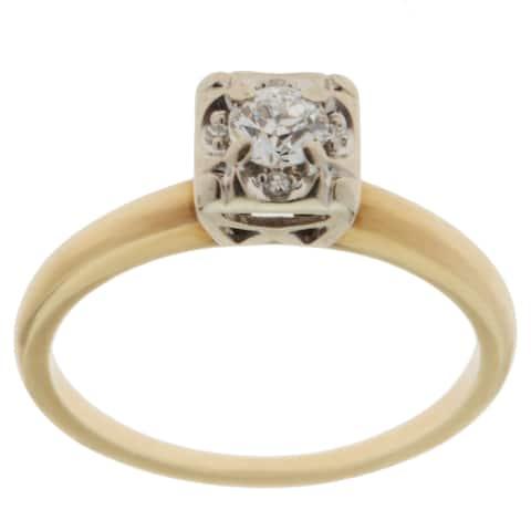 14K Yellow Gold 1/4ct TDW Antique Engagement Ring (G-H, VS1-VS2)
