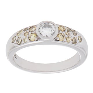 Pre-owned 14K White Gold 1/3ct TDW White and Yellow Diamond Band Ring (H-I, VS1-VS2) https://ak1.ostkcdn.com/images/products/9833325/P16997047.jpg?_ostk_perf_=percv&impolicy=medium