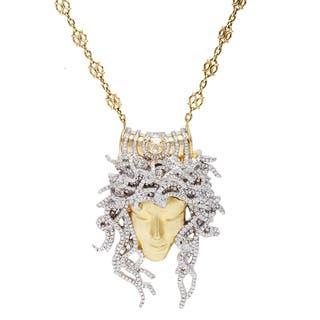 18k Yellow Gold 4.75ct TDW Giant Medusa Diamond Estate Necklace (G-H/Yellow, VS1-VS2)|https://ak1.ostkcdn.com/images/products/9833334/P16997055.jpg?impolicy=medium