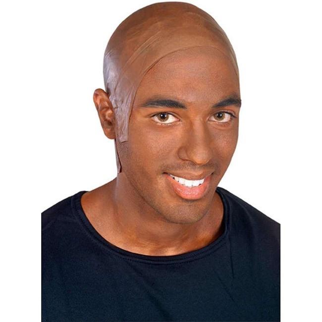 African American Dark Latex Bald Head Cap (Brown), Women'...