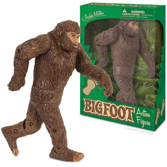 Bigfoot Sasquatch Action Figure Toy (Brown)