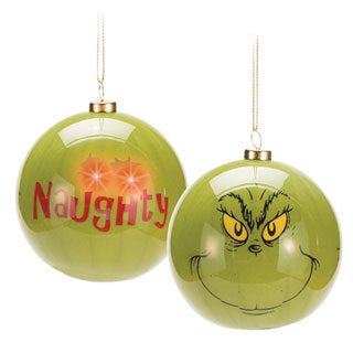 Dr. Seuss How The Grinch Stole Christmas LED Light-up Ball Ornament