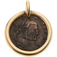 Pre-owned 18K Yellow Gold Antique Coin Pendant