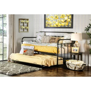 Furniture of America Lissa Modern 2-Piece Metal Daybed with Trundle Set