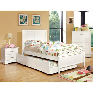 Furniture of America Colorpop 4-piece Twin Youth Bedroom Set (Option: Coconut White)