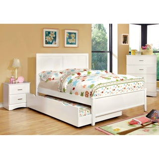 Furniture of America Colorpop 4-piece Full-size Youth Bedroom Set (Option: Coconut White)