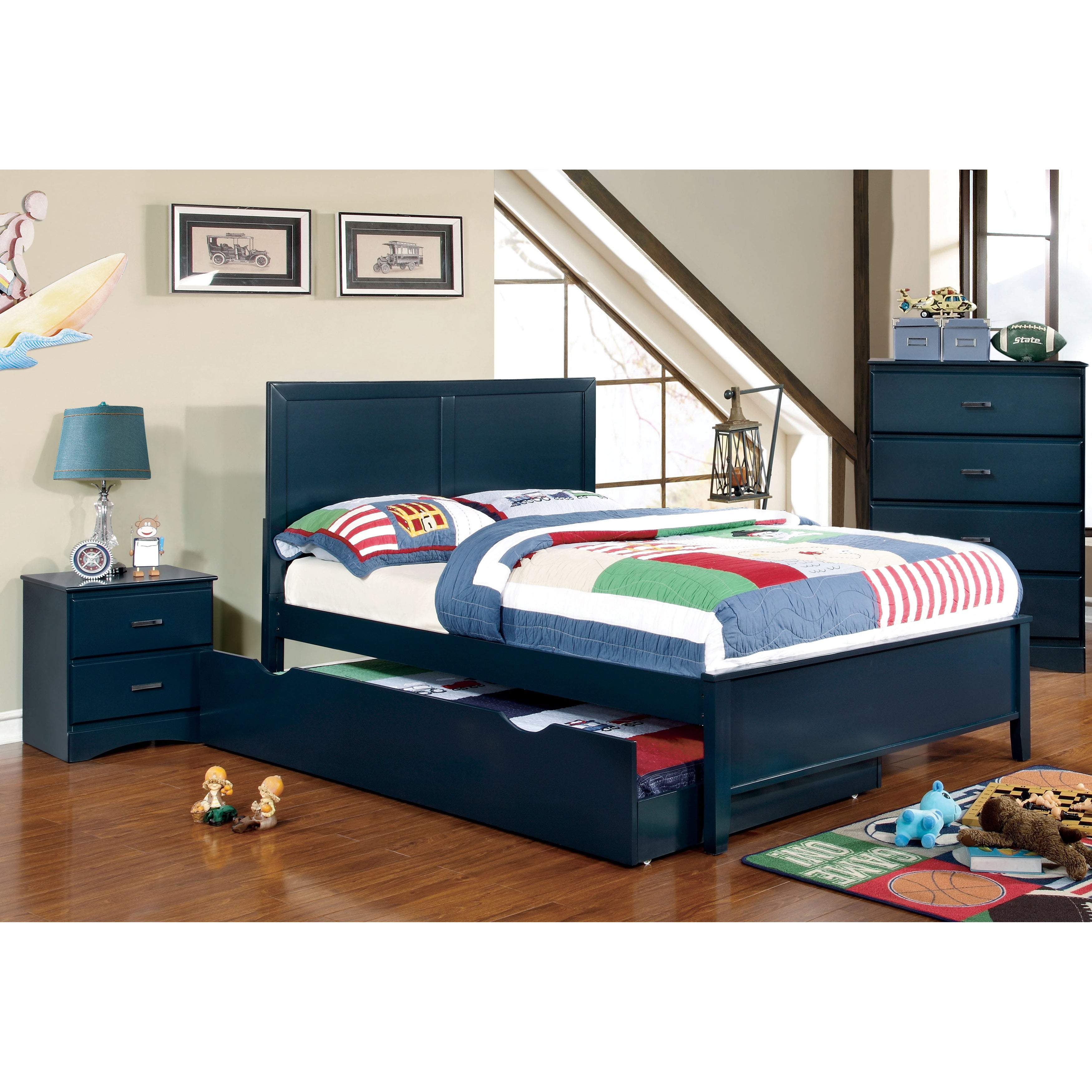 Shop Furniture Of America Pice Modern Full 4 Piece Youth Panel Bed Set Overstock 9833409