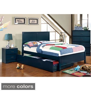 Furniture of America Colorpop 4-piece Full-size Youth Bedroom Set (3 options available)