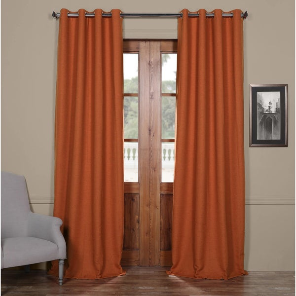 Exclusive Fabrics Grommet Bellino 120 Inch Blackout Curtain