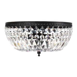 Jessica 3-light Crystal Basket Flush Mount Chandelier