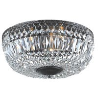Silver Orchid Taylor 12-inch Antique Black Crystal Flush Mount Chandelier