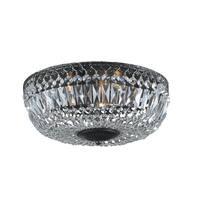 Maison Rouge Hewett 14-inch Antique Black Crystal Flush Mount Chandelier