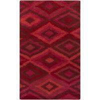 Hand-knotted Aaliyah Geometric Wool Area Rug - 8' x 11'
