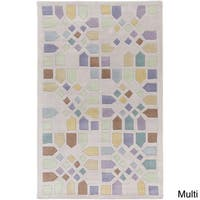 Hand-Tufted Andres Geometric Wool Area Rug