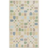Hand-Tufted Andres Geometric Wool Area Rug - 8' x 11'