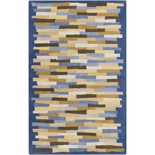 Hand-tufted Amiyah Geometric Wool Rug (8' x 11')