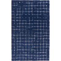Hand-tufted Amelie Geometric Wool Area Rug - 8' x 11'
