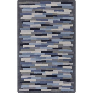 Hand-Tufted Amiyah Geometric Wool Area Rug