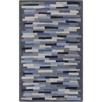 Hand-Tufted Amiyah Geometric Wool Area Rug - 5' x 8'