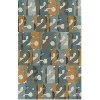 Hand-Tufted Amirah Print Wool Area Rug - 5' x 8'