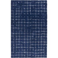 Hand-tufted Amelie Geometric Wool Area Rug - 5' x 8'