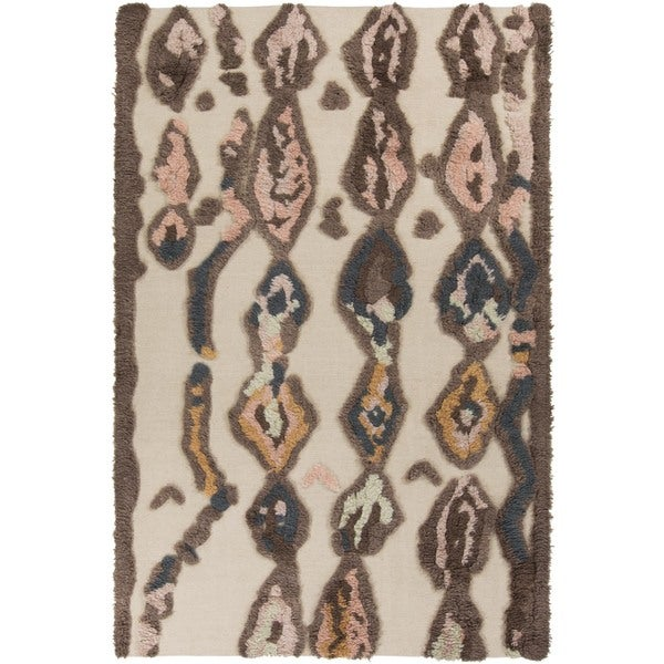 Hand-woven Alisson Abstract Wool Area Rug - 5' x 8'