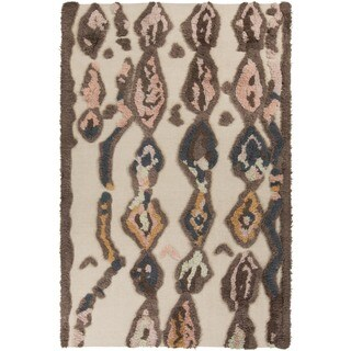 Hand-woven Alisson Abstract Wool Rug (5' x 8')
