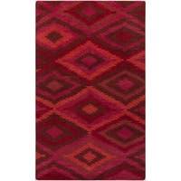 Hand-Knotted Aaliyah Geometric Wool Area Rug